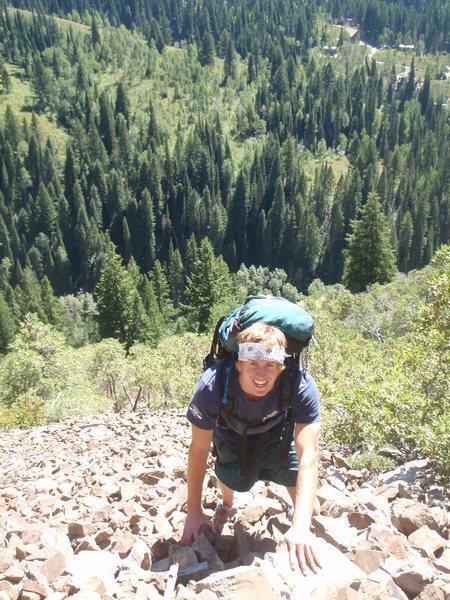 Rock Climbing Photo: hey ky.