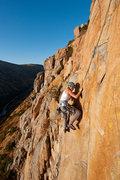 Rock Climbing Photo: Natasha high up on Skyline Pinnacle.  This may be ...