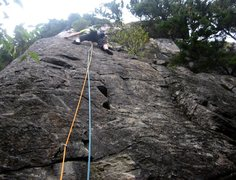Rock Climbing Photo: Bottom section of the route