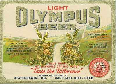 Olympus Beer 1936 <br> &quot;Taste the Difference&quot;