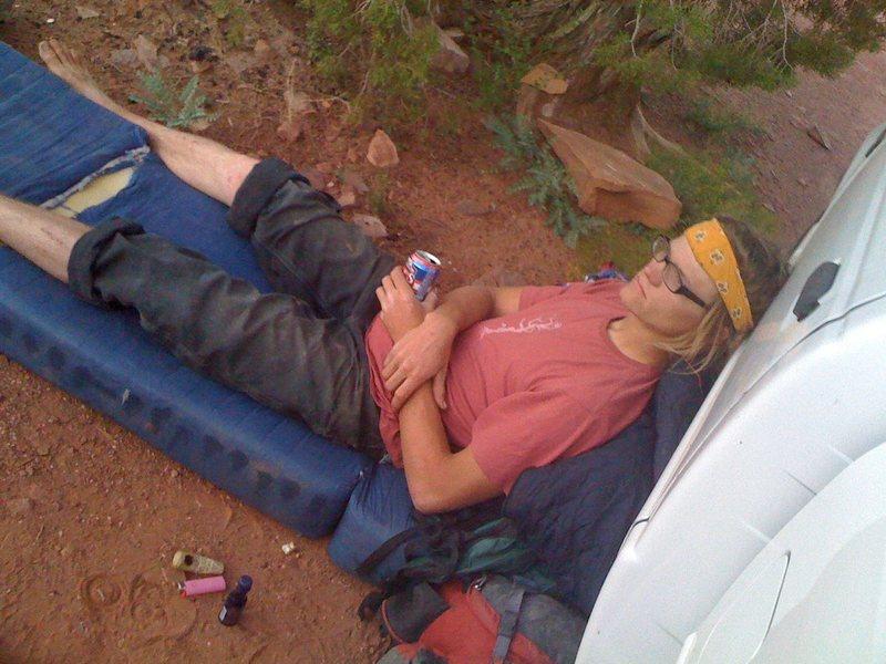 Rock Climbing Photo: After a hard days work