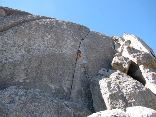 Rock Climbing Photo: Climbing Columbian Crack