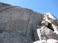 Rock Climbing Photo: Climbing Columbian Crack
