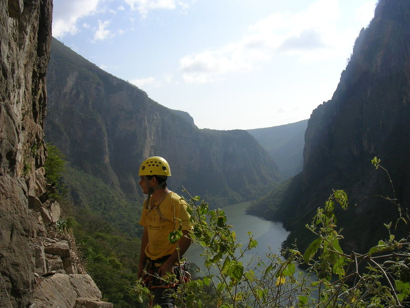 Rock Climbing Photo: View of the of The Sumidero Canyon from Base Camp,...