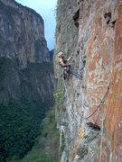 Rock Climbing Photo: C.Smith ascending a fixed line.