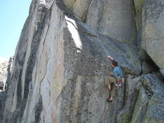 Rock Climbing Photo: Mike attempting to pull the opening moves without ...