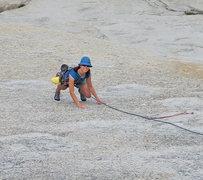 Rock Climbing Photo: The opening slab.  July 2010