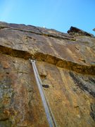 Rock Climbing Photo: One of the few pitons we found! I'm nearly at the ...