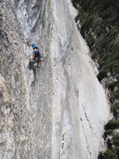 Rock Climbing Photo: Fourth pitch (not as steep as this angle implies)