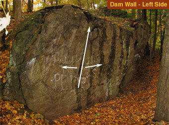 Rock Climbing Photo: The left side of the Dam Wall has lots of holds an...