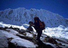 Rock Climbing Photo: Hugo on the approach to Olcshaplca (in the backgro...