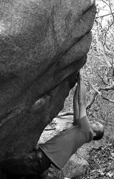 Rock Climbing Photo: Joe M. trying Amnesia.