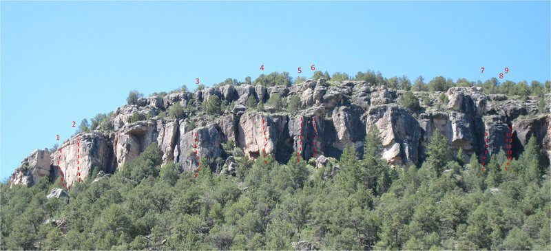 Rock Climbing Photo: The left side of the GBN.  Routes:  1. Don't Eat.....