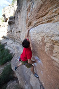 Rock Climbing Photo: For the short this is a feet-cutting dyno.