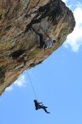 Rock Climbing Photo: Luis getting to the second crux of Granite of the ...