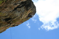 Rock Climbing Photo: upper crux on Granite of the Apes