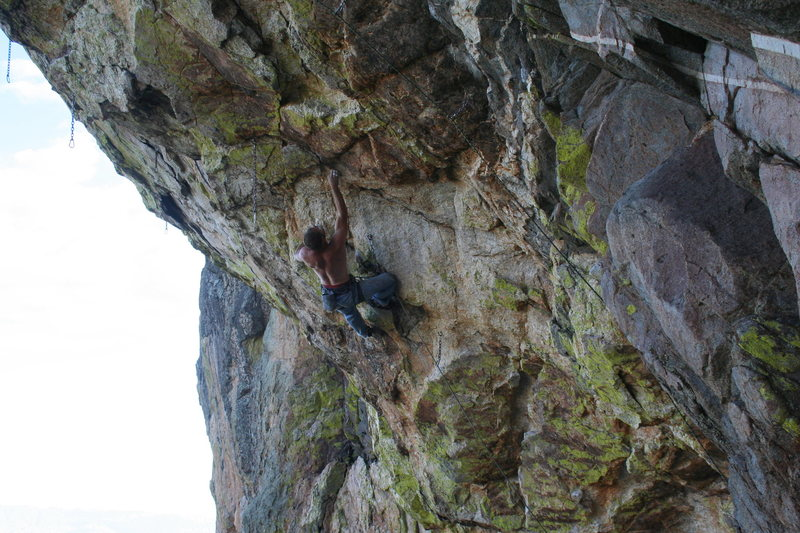 Vince on the lower (HARD) crux
