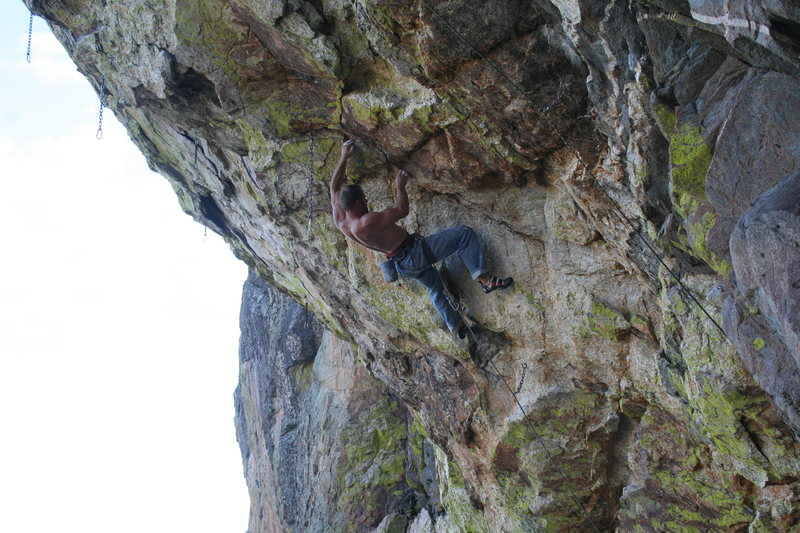 Vince in the lower crux moves