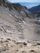 Rock Climbing Photo: The use tail and scree slope below the south face....