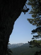 Rock Climbing Photo: Clipping the chains on a flash ascent of Pow Wow