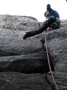 Rock Climbing Photo: Dima on his way for the FFA