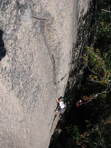 Chris Magness going strong on an attemped 2nd ascent of Greenpeace