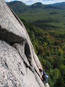 Rock Climbing Photo: Todd Shaffer placing gear on I'm Still Here. Owl's...