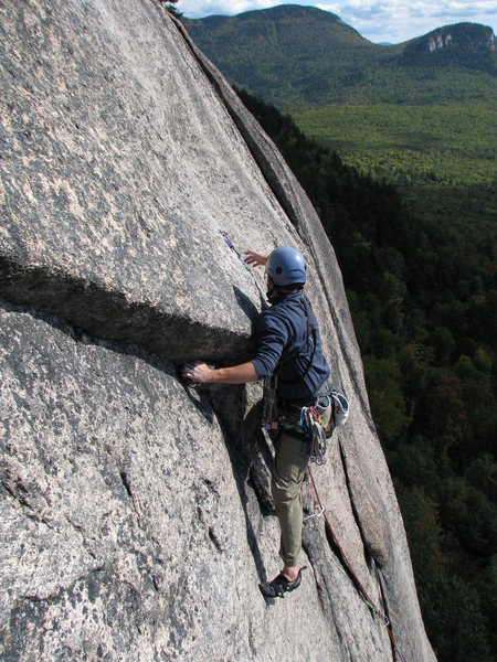 About to pull on ..err to the slab - climber: Todd Shaffer
