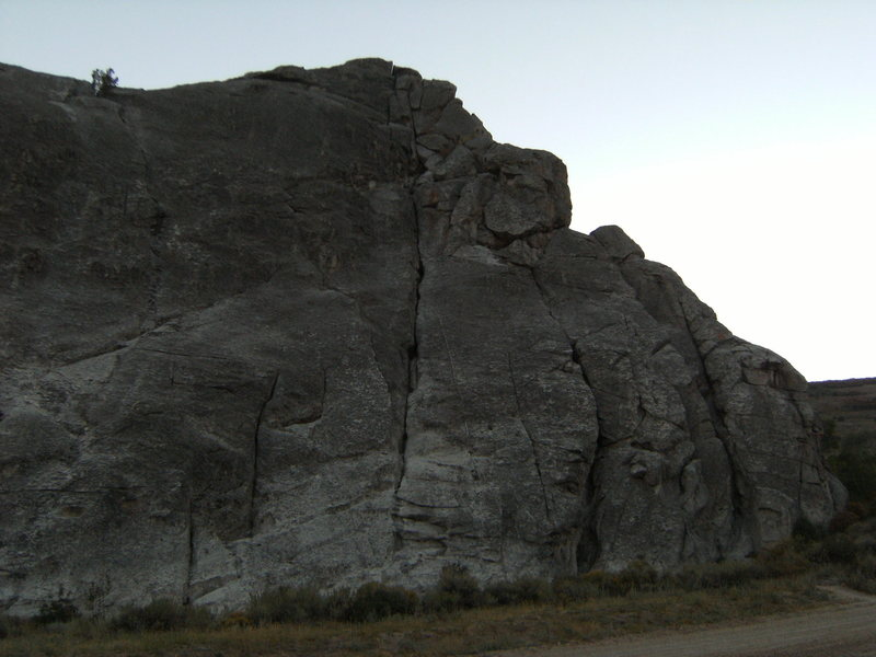 Rock Climbing Photo: Some what right of the slightly right leaning long...