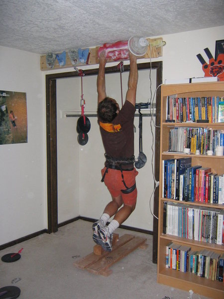 Rock Climbing Photo: Another example of how to set up a hangboard.