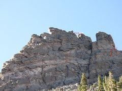 Rock Climbing Photo: Route, front rap.