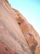 Rock Climbing Photo: Near top.