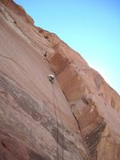 Rock Climbing Photo: Andy on the crux