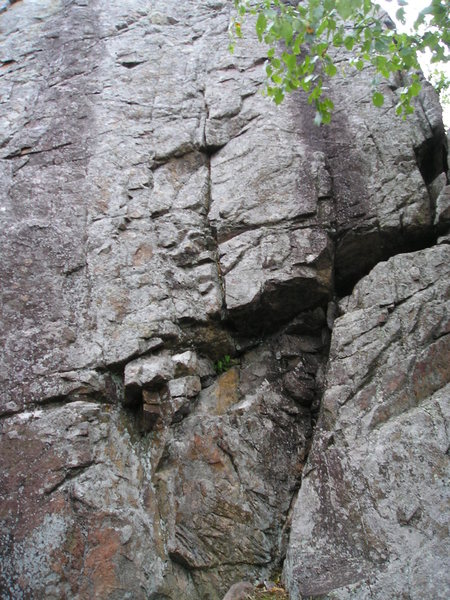 Rock Climbing Photo: Route is on the far right, just before the corner,...