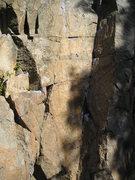 Rock Climbing Photo: Base of Sidewinder... deceptive tricky start.