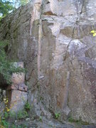 Rock Climbing Photo: Hard to see route, look at mid left  to see a chal...