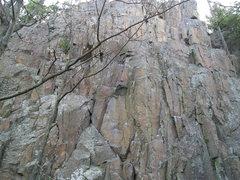 "Rock Climbing Photo: ""The Corner"" has a distinctive white tri..."