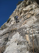 Rock Climbing Photo: Christian Burrell on pitch 4. Dec 2008.
