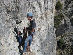 Rock Climbing Photo: Thomas Gappmayer enjoying the belay before pitch 1...