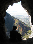 Rock Climbing Photo: The cave/mine at the base of pitch 12 is a great p...