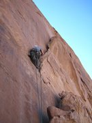Rock Climbing Photo: Lance starting P1