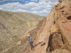 Rock Climbing Photo: Lance on the top belay