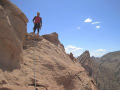 Rock Climbing Photo:  On top...great views