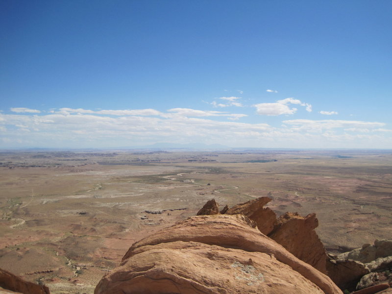 View from top towards the La Sals
