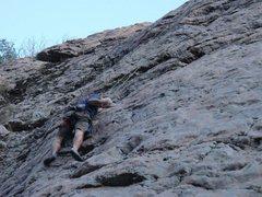 "Rock Climbing Photo: Steve on ""unforgiven"""