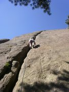 Rock Climbing Photo: Heading up Crescent.