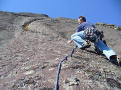 Rock Climbing Photo: Starting the second pitch.