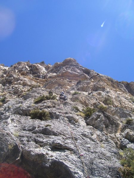 Rock Climbing Photo: The very sustained 5.10 pitch 12.