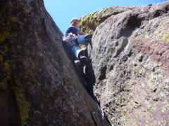 Rock Climbing Photo: A fun way to reach the top of the summit tower. 5....