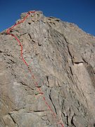 Rock Climbing Photo: Route up from the Rap station. The Stepladder goes...
